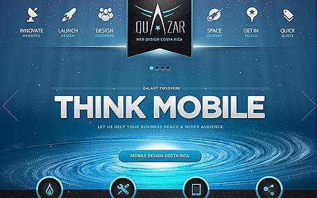 Quazar Mobile Web Design Costa Rica