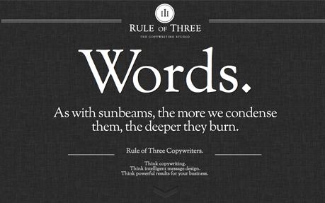 Rule of Three –The Copywriting Studio.