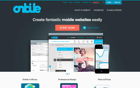 Onbile - Create mobile websites