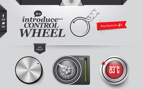 controlWheel js - Create knob style UI