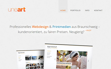 uneart Web- & Printdesign