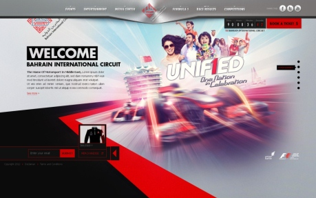 Unified F1 Bahrain Website